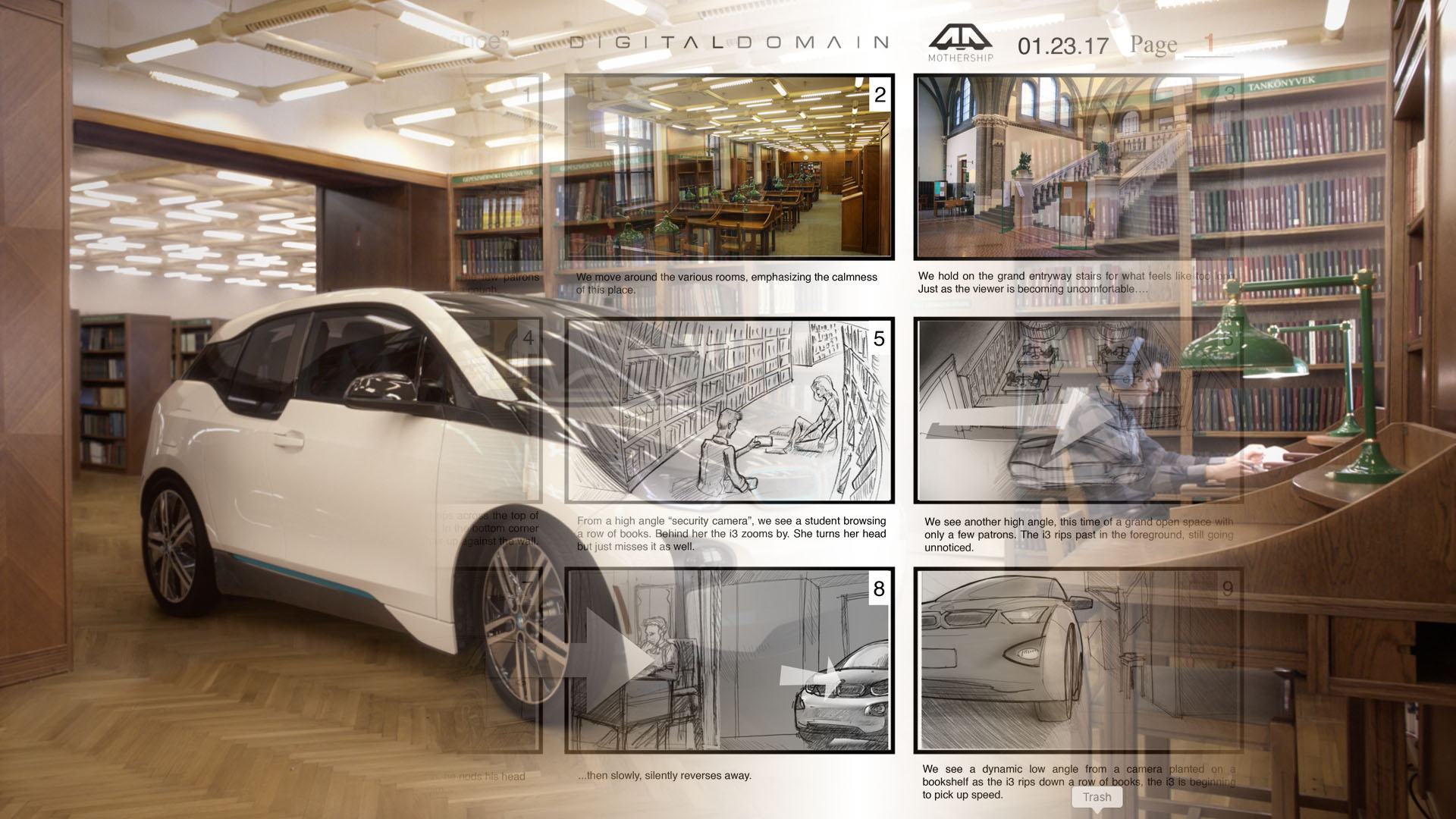 "BMW i3 ""Silent Performance"" Storyboards"