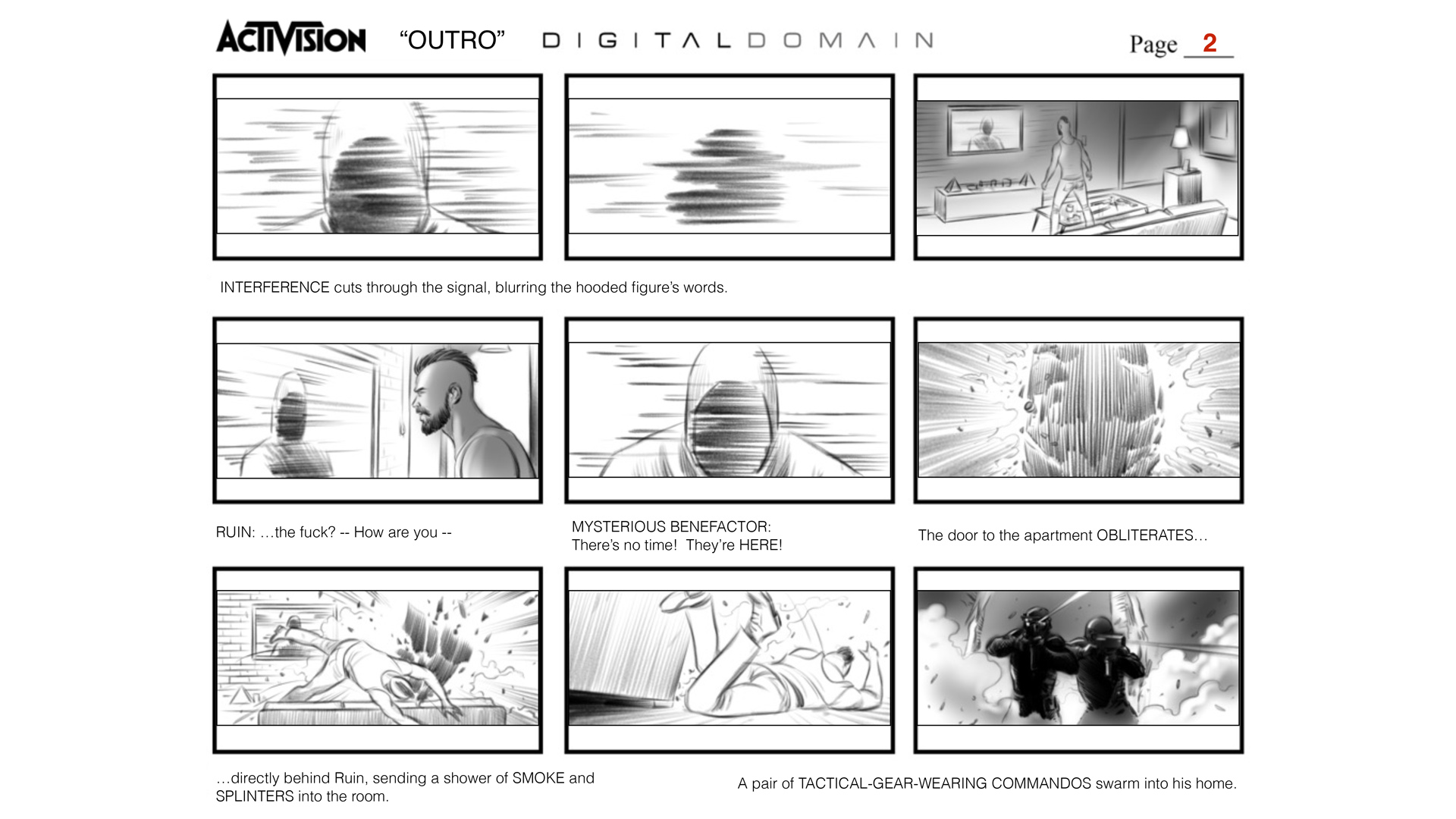 "Call of Duty ""Black Ops 4"" OUTRO Storyboards"