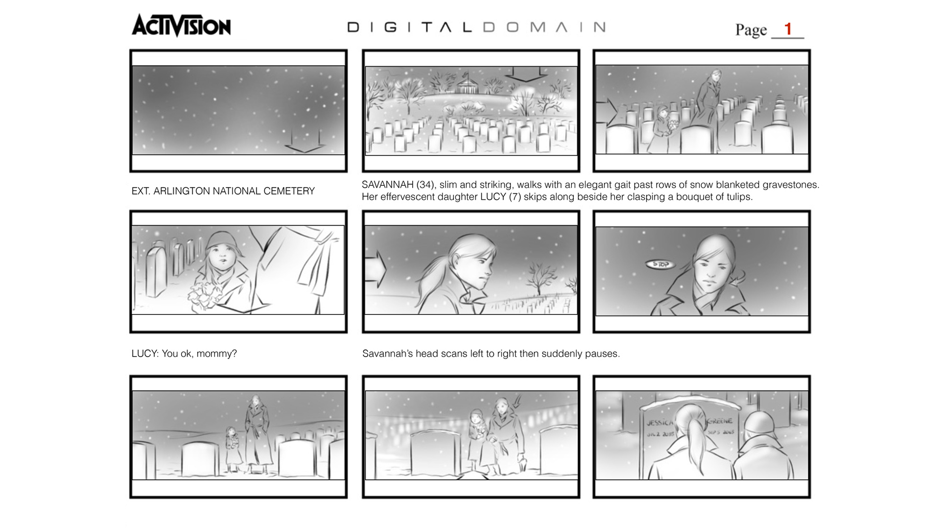 "Call of Duty ""Black Ops 4"" INTRO Storyboards"
