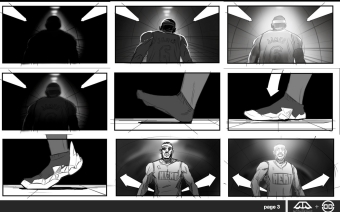 """Nike """"Tunnel"""" Storyboards"""