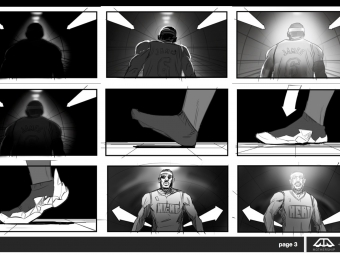 "Nike ""Tunnel"" Storyboards"
