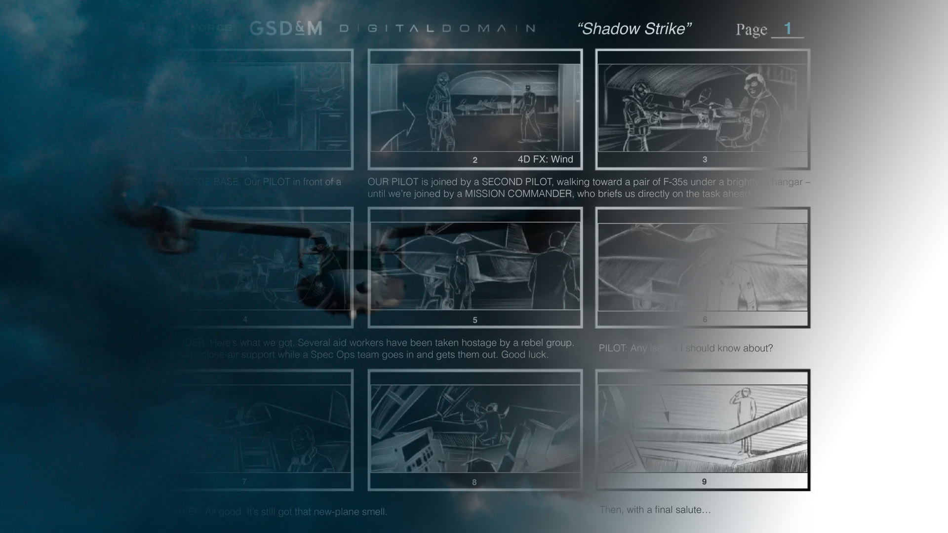 "USAF's ""Operation Shadow Strike"" Storyboards"